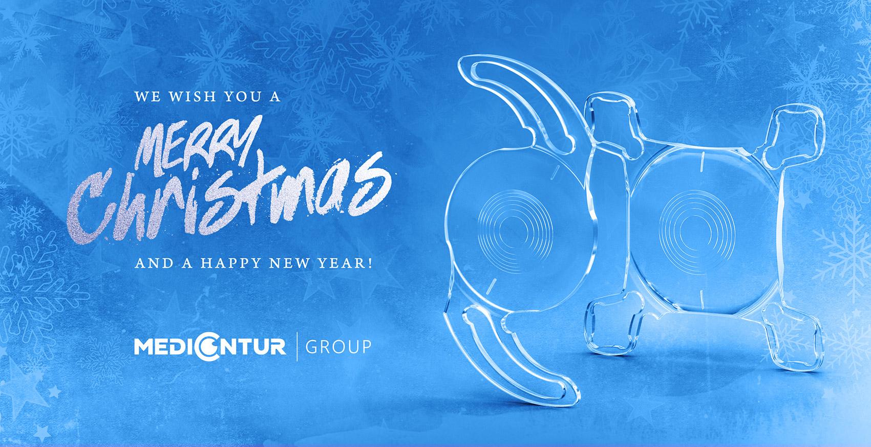 """Листівка """"Щасливого Різдва та Нового 2021 року"""" від Medicontur Group"""